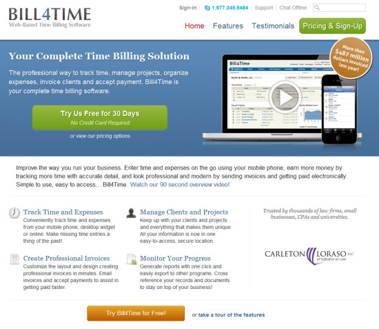 Online Time Tracking and Billing Software